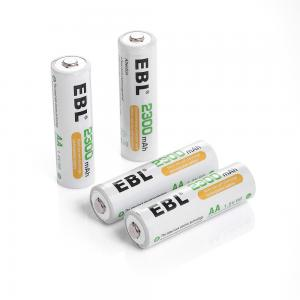 China 2300mAh AA Rechargeable Cell Batteries , 1.2v NiMH Battery With Battery Storage Box on sale