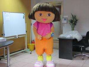Quality Custom Kids Girl Cartoon Character Dora Mascot Costumes for sale