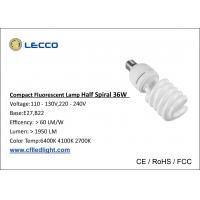 China tampa plástica dos materiais compactos dos bulbos 36W PBT de Cfl da luz 2000LM fluorescente on sale