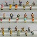 le 1:87 de boutique a posé la figure, figure d'échelle, 1/87 de figures, personnes modèles, chiffres de couleur HO, personnes d'échelle, personnes de train de modèle