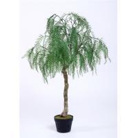 Willow Bonsai Artificial Office Plants , 120cm Artificial Tropical Plants Plastic Leafs