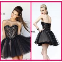 Black Short Long Homecoming Dresses Sweetheart , Mini Short Beading Cocktail Dresses