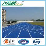 Le terrain de jeucourant sportif durable de voie de 13 millimètres apprête de pleins granules de polyuréthane mélangés par unité centrale