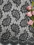 Paisley French Lace Black Lightweight Tulle Lace Fabric