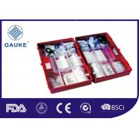 China Waterproof ABS Plastic Medical First Aid Kit With Wall Bracket Interlayer on sale