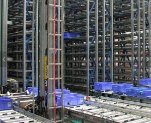 China Robot Welding ASRS Warehouse System , Radio Shuttle Racking With Laser Positioning Technology on sale