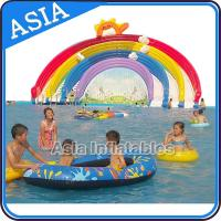 Ourdoor Playground Inflatable Water Park With Pool , Inflatable Swimming Combo , Water Sports