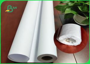 China 36Inch * 150M White Plotter Paper Good Stiffiness For Canon Plotter Printer on sale