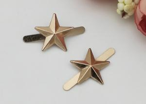 China Star Shape Zinc Alloy Buckle , Fashion Shoe Buckles For Gifts Shoe / Ladies Shoe on sale