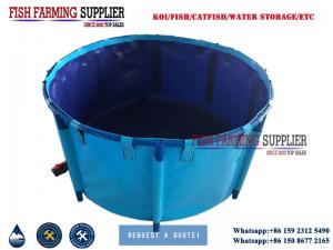 China PVC Collapsible Fish Pool Fish Tank for Koi and Tilapia Fish Farming on sale