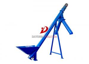 China PVC Particle Auger Flexible Spiral Conveyors All Carbon Steel Shaftless on sale
