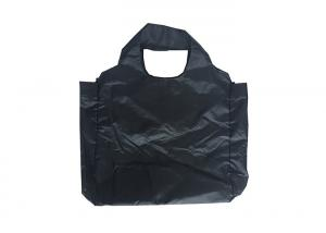 China Printed Custom Folding Tote Bag Carrier Folding Shopping Bags That Fold Into A Pouch on sale