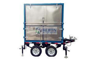 China Double Axle Four Car Wheels Mobile Transformer Oil Purifier 6000 Liters / Hour on sale