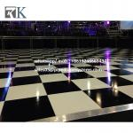 portable Black and White  dance floor for wedding event Decoration system for sale