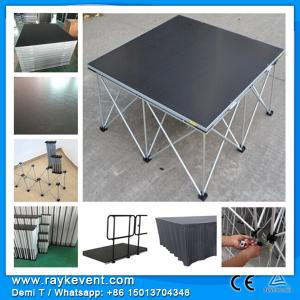 China High quality 4*4ft black  portable band stages for performing aluminum portable stage deck for events on sale