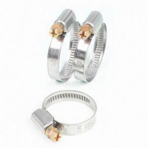 China Stainless Worm Drive Clamps DIN3017 Standard on sale