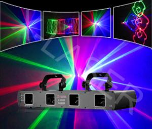 China Disco four tunnel laser  light show on sale