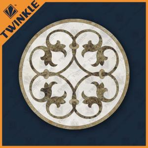 China Solid Natural Marble Round Floor Medallions For Home Floor Paving on sale