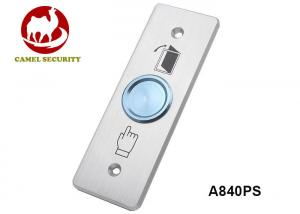 China Corrosion Resistant Door Exit Push Button With 115 * 40mm Elegant Faceplate on sale