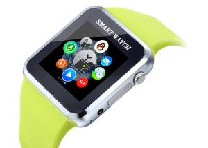 China Android Bluetooth Camera Smart Watch , Green Smart Wrist Watch on sale