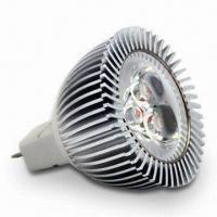 MR16 LED Spotlight, 3-piece x 1W Chip, 100 to 240V AC Voltage and E14/E27/G5.3/G10 Plug
