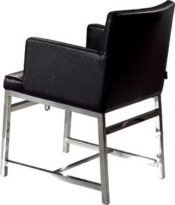 Quality Upholstered Black Leather Dining Chairs, Contemporary Dining Room Chair for sale