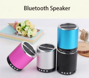 China Wireless Mini Bluetooth Speaker With USB Charger , Portable bluetooth round speaker on sale