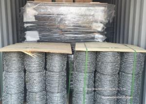 China Hot Dipped Galvanized Barbed Wire Mesh Roll / Barbed Wire Mesh Fence Design on sale