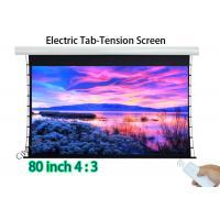 Flat 80 Inch Hd Projector Screen , Tab Tension Wall Mount Projector Screen