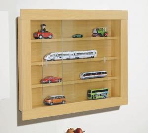 Wooden Wall Mounted Display Cabinet Mount Art Cases