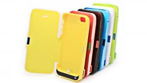 China Iphone 5C External Battery Case Rechargeable Li-poly Battery Pack on sale