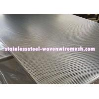 China Stainless Steel Perforated Metal Sheet Round Hole High Temperature Oxidation Resistance on sale
