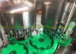 Flavor Water Liquid Bottle Filling Machine , 3 In 1 Juice Production Machine / Line