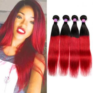 China Black Dark Roots Ombre Human Hair Extensions Ombre Hair Weave For Black Women on sale