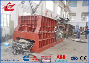 China Automatic Control Scrap Metal Shear Hydraulic Waste Steel Pipes Tanks Cutting Machine on sale