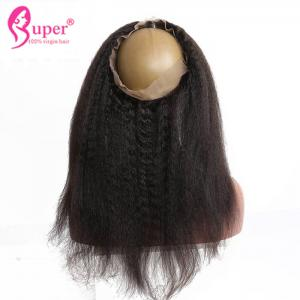 China 360 Swiss Lace Frontal Closure Cuticle Aligned Kinky Straight Hair Cheap Weave on sale