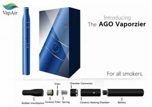 China Black Blue Stainless aGo Vaporizer Pen With LCD Display on sale