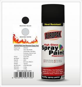China Aeropak  aerosol can 400ml 10oz Heat Resistant spray paint with all colors on sale