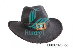 China folding cowboy hat feather for men on sale