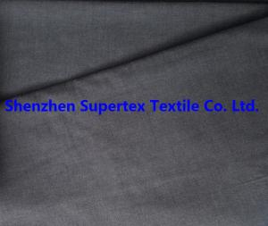 China Cotton Chambray Oxford Shirt Yarn Dyed Fabric Navy Color 32S 125GSM on sale