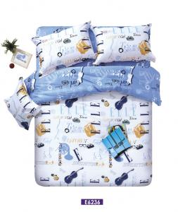 China Teenage Soft Customized Cotton Bed Set With Guitar Pattern All Size on sale