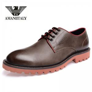 China Italian Armani FA series top layer cowhide leisure business men orignial leather buz shoes on sale