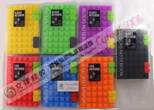 China Red / Black / Purple Building Blocks Design Silicone Notebook For Christmas Gifts on sale