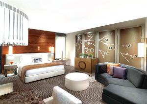 China Comfortable Bedroom Upscale Hotel Furniture , Unique Surplus Hotel Furniture on sale