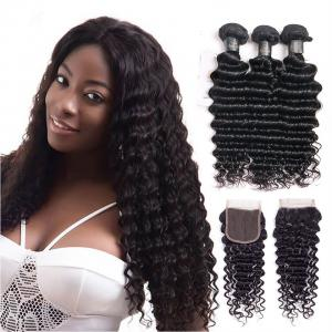 China 30 Inch Deep Wave Peruvian Hair / 100 Remy Human Hair Weave Shedding - Free on sale