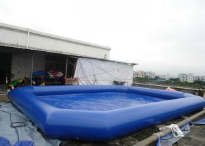 China Mobile portable large inflatable swimming pools with Customized color , Soft PVC Material on sale