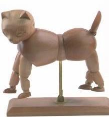 China Vivid Craft Artist Wooden Manikin Dog / Cat Mannequin Good Design on sale