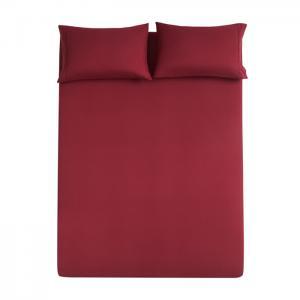 China Brushed Microfiber 4 Piece Comforter Set , Burgundy Color Wedding Bedding Set on sale