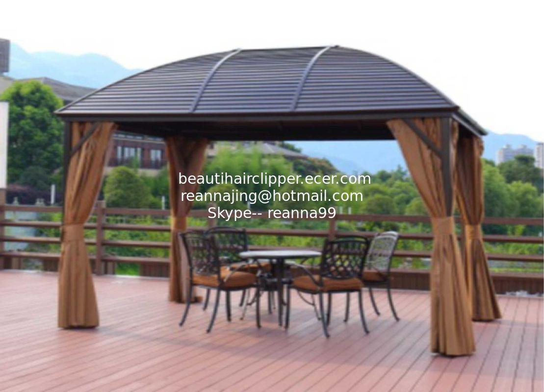 Alum Metal Roof Gazebo Outdoor Pavilion Garden Gazebo Sunlight Board Garden Gazebo Metal Type Pavilion Park Leisure Tent