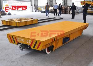 China 10tons Flexible Heavy Duty Quad Steer Carts , Free Maintenance Material Handling Trolley on sale